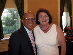 Eric Astacaan and Toni Atkins