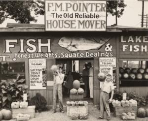 "Walker Evans, ""Roadside Stand Near Birmingham/Roadside Store Between Tuscaloosa and Greensboro, Alabama,"""