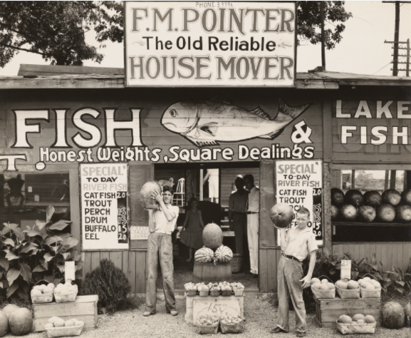 "Walker Evans, ""Roadside Stand Near Birmingham/Roadside Store Between Tuscaloosa and Greensboro, Alabama,"""