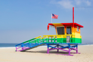 rainbow-lifeguard-tower-2017-vote-bill-rosendahl-memorial-venice